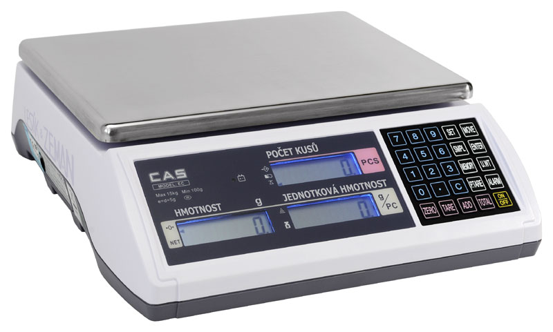 Počítací váha CAS EC-30 kg, cejchovaná