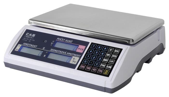 Počítaci váha technologická CAS EC-H 15 kg (Počítací váha CS EC-H do 15 kg pro kontrolní vážení)