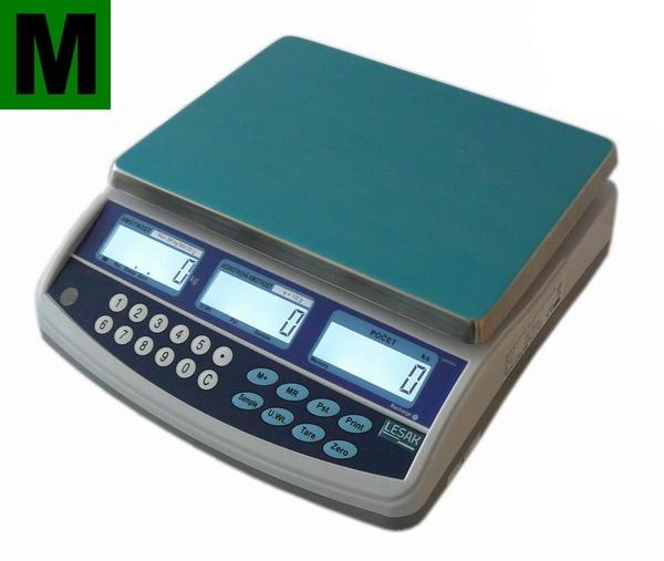 Počítací váha TSCALE QHC15D, 6/15kg, cejchovaná (Počítací váha TSCALE QHC15D do 15 kg se zákaznickým displejem, ES ověření )