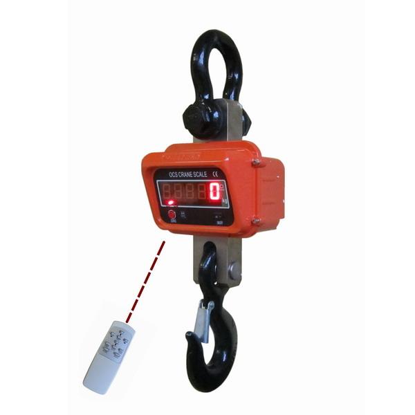 Jeřábová váha JEV 5T, 5t/2 kg s dálkovým ovládáním (Jeřábová váha JEV 5T s dálkovým ovládáním a náhradním akumulátorem)