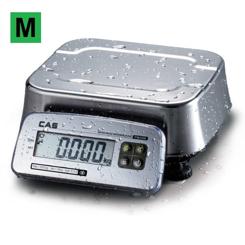 Voděodolná stolní váha CAS FW-500 15kg (Stolní gastro váha CAS FW-500 15kg)