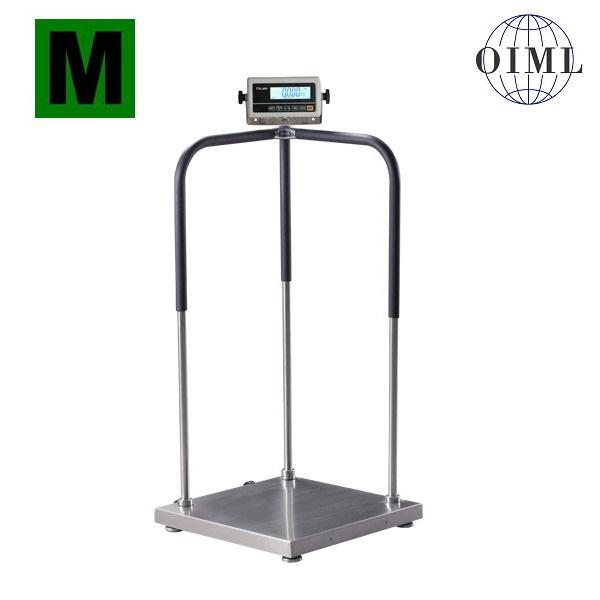 Osobní váha 1T6060LODRWP/250kg s madly (Osobní váha s madly 1T6060LODRWP/250 kg pro vážení osob se sníženou stabilitou, možnost ES ověření)