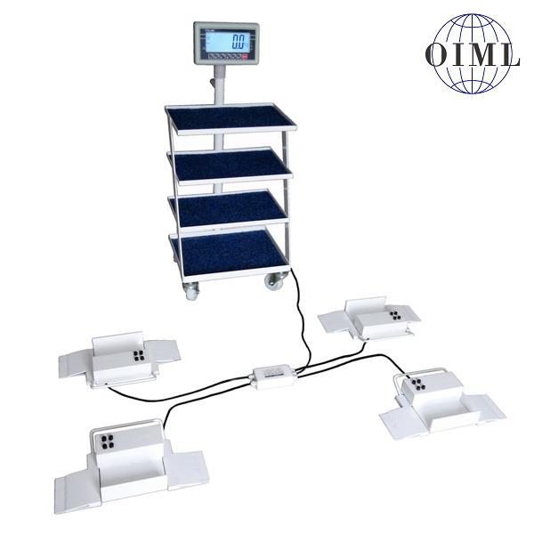 Nízkoprofilová váha na lůžka 4TVPSNLBW500, 500kg/200g (ážící patky 4TVPSNLBW500 s váživostí do 300 kg pro vážení pacientů na pojezdovém lůžku)