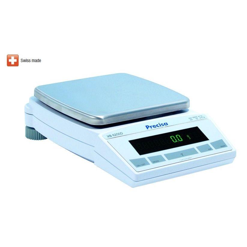 Přesná laboratorní váha PRECISA XB 6200D, 6200g/0,1g (Velmi kvalitní laboratorní váha PRECISA XB 6200D s interní kalibrací)