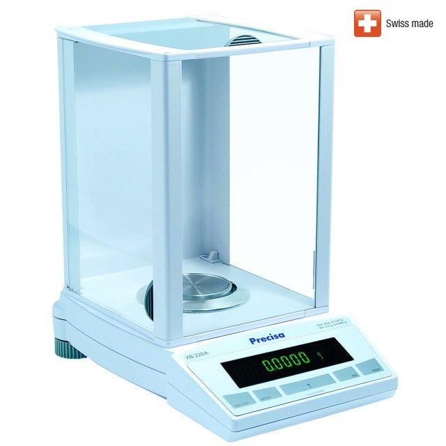 Analytická laboratorní váha PRECISA XB 220A, 220g/0,1mg (Velmi kvalitní analytická váha PRECISA XB 220A s přesností 0,1mg a s interní kalibrací)