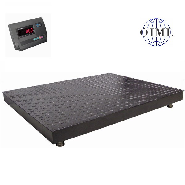 Podlahová váha 4T1012PL, 3000kg, 1000x1250 mm, lak (Plošinová váha 4T1012PL/3000 v lakovaném provedení s indikátorem A12)