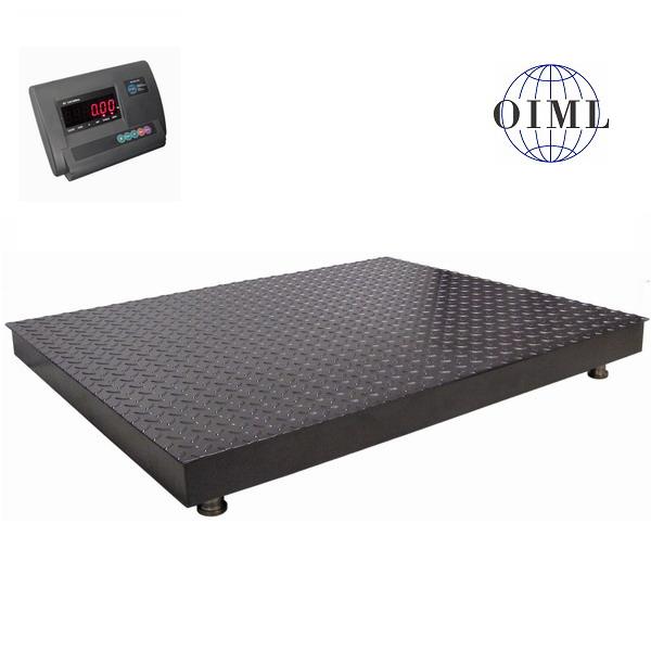 Podlahová váha 4T1215PL, 3 t, 1250x1500 mm, lak (Plošinová váha 4T1215PL/3000 v lakovaném provedení s indikátorem A12)
