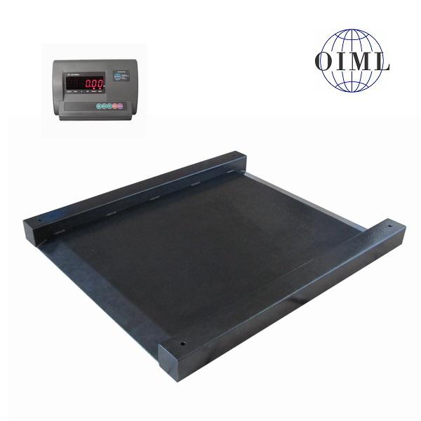Nájezdová váha 4TUVN1213L/600, 600kg, 1250x1300mm, lak (Nájezdová váha 4TUVVN1213L/600 s vestavěnými nájezdy a idikátorem A12)