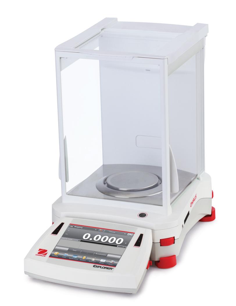 Analytická váha Ohaus Explorer Analytical EX224M/AD, 220 g, 1 mg (0,1 mg) (Laboratorní analytická váha Ohaus Explorer 220 g , 1mg (0,1 mg) s ES ověřením, automatické dvířka)