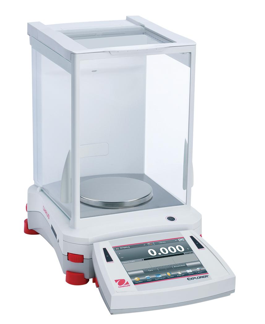 Přesná váha Ohaus Explorer EX1103, 1100 g x 1 mg. (Přesná váha Explorer Precision , model EX1103 s váživostí 1100 g, 1 mg. technologická)