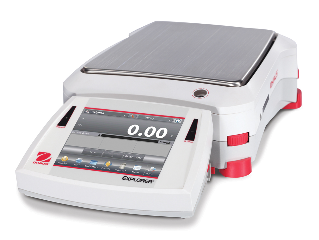 Přesná váha Ohaus Explorer EX10202, 10200 g x 0,01 g. (Přesná váha Explorer Precision , model EX10202 s váživostí 10200 g, 0,01 g. technologická)