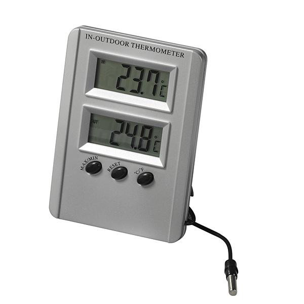 Kalibrovaný digitální teploměr MIN/MAX, akreditovaně (Digitální teploměr pro měření vnitřní a venkovní teploty s akreditovanou kalibrací)