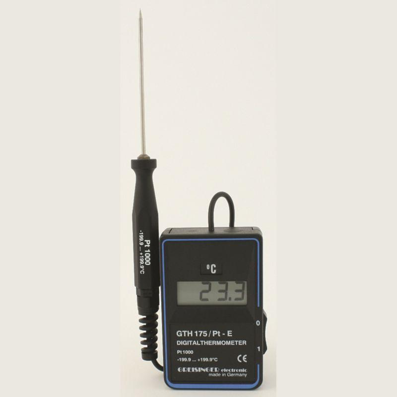 Kalibrovaný digitální teploměr Greisinger GTH 175 PT-GES (Přesný digitální teploměr Greisinger GTH 175 PT-GES s vpichovací sondou, pro použití v masném průmyslu)
