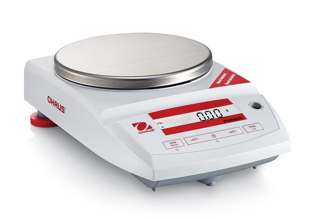 Laboratorní přesná váha Ohaus® Pioneer Precision PA4201, 4200 g x 0,1 g. (Laboratorní váha Ohaus® Pioneer Precision, technologická váha s dílkem 0,1 g a váživostí do 4200 g.)