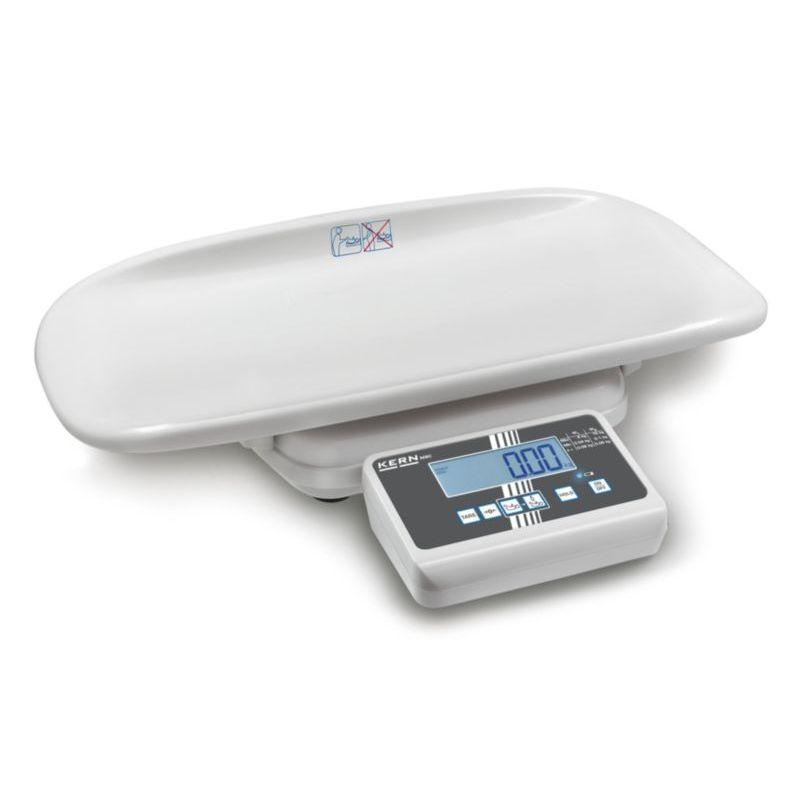 Kojenecká váha KERN model MBC, technologická, do 15 kg (Kojenecká váha značky KERN model MBC do zdravotnictví, technologická do 15 kg)