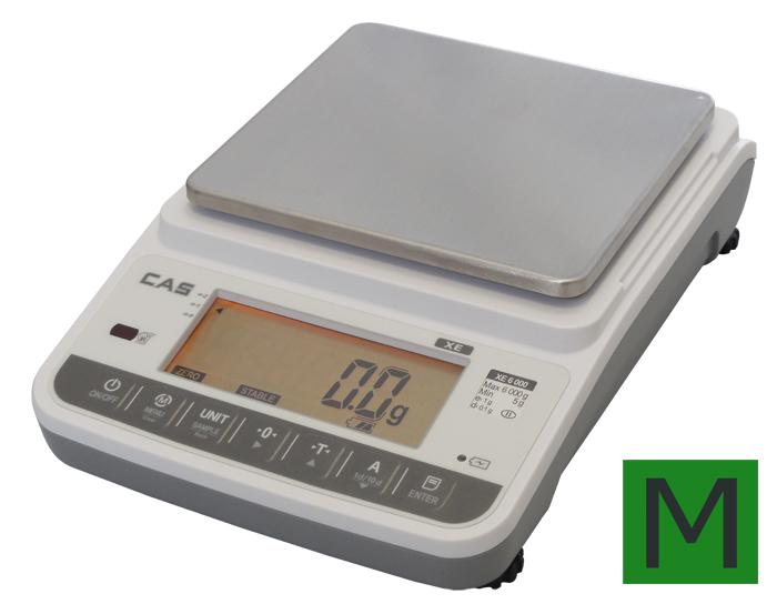 Přesná váha CAS XE 6000g, s ověřením