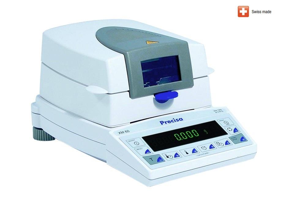 Analyzátor vlhkosti Precisa XM 60, 124 g (Sušící váha Precisa XM 60, 124g, 1mg)