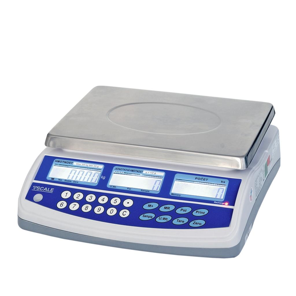 Počítací váha TSCALE QHD-3 PLUS, 3kg/0,05g (Stolní počítací váha TSCALE QHD-3 PLUS pro kontrolní vážení s velkou přesností)