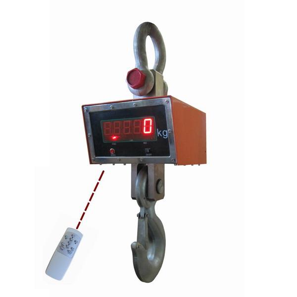Jeřábová váha JEV 20T, 20t/10 kg s dálkovým ovládáním (Jeřábová váha JEV 20T s dálkovým ovládáním a náhradním akumulátorem)