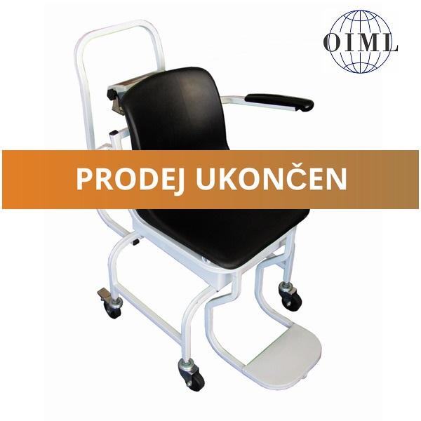 Mobilní vážící křeslo 1TVKLRWP, 150kg/50g (Mobilní vážící křeslo 1TVKLRWP do 150 kg pro vážení nemocných a handicapovaných osob)