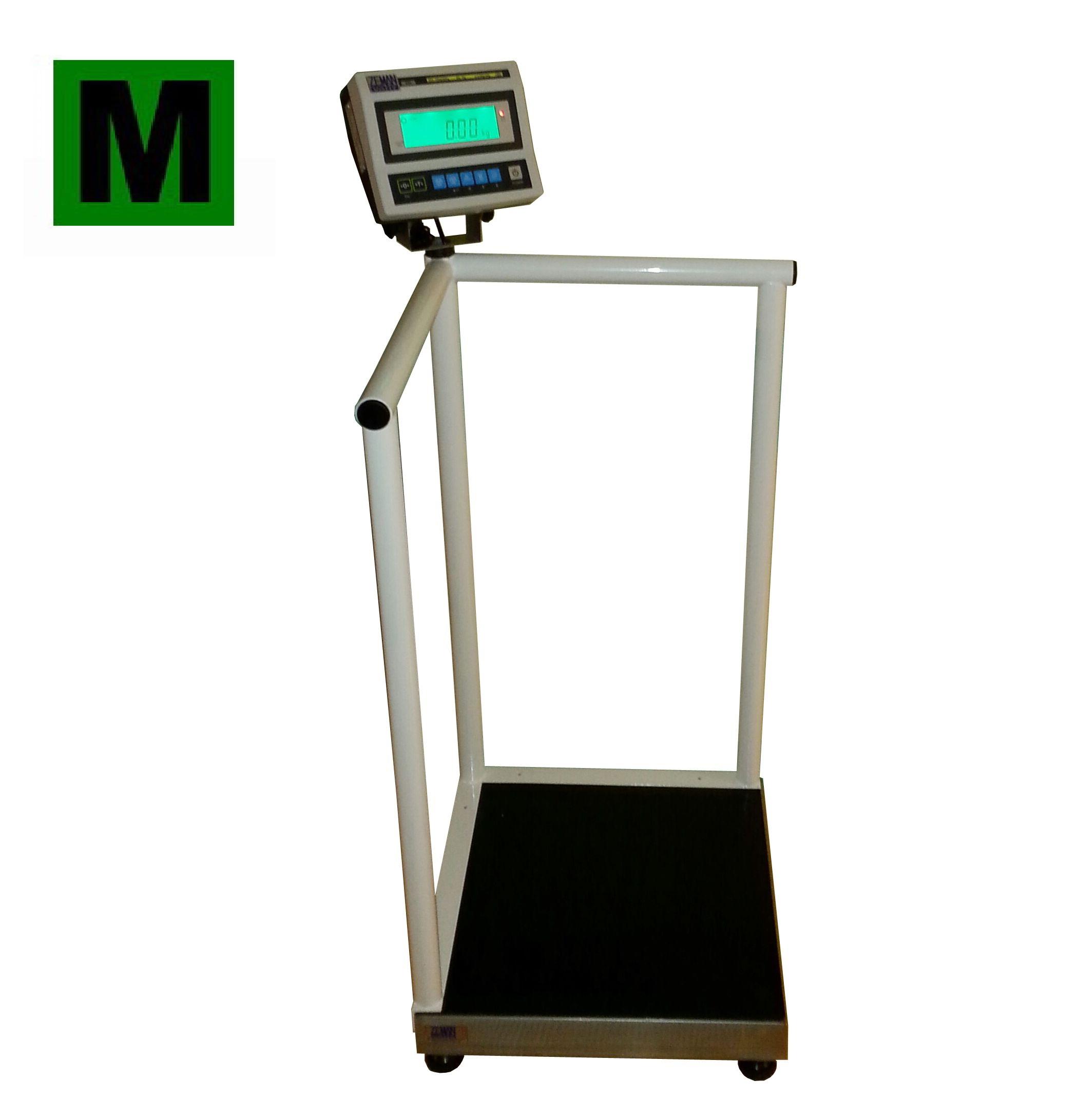 Osobní váha se zábradlím ZV1T55 do 300kg, cejchovaná (Osobní váha se zábradlím ZV1T55 s váživostí 300 kg s ES ověřením)