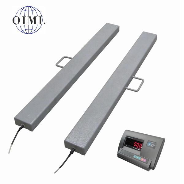 Ližinová váha 4TVLL0800A12/600, 600kg, 120x800mm, lak (Univerzální ližinová váha 4TVLL0800A/600 pro vážení palet)