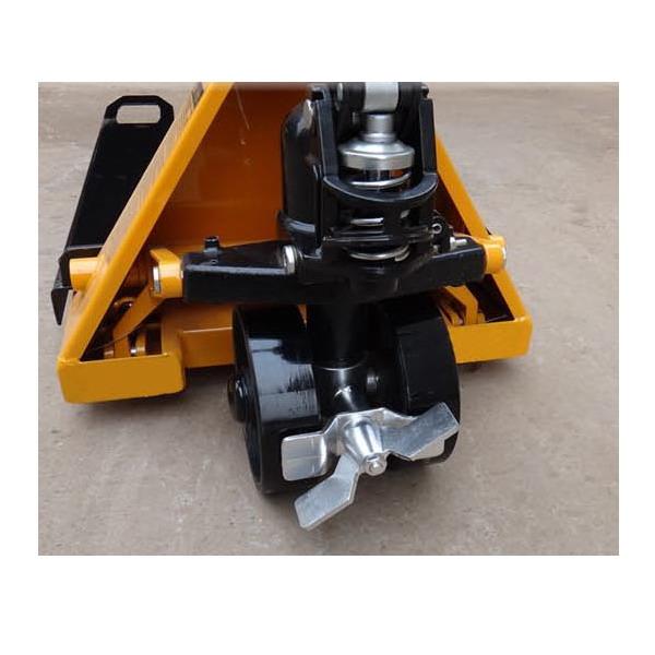 Nožní brzda PV4T na přední kolo k paletovému vozíku (Přídavní nožní brzda pro fixaci předního kola paletového vozíku PV4T)