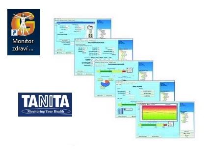 Software GMON Standard pro monitory TANITA (Software GMON Standard pro kompletní analýzu těla.)
