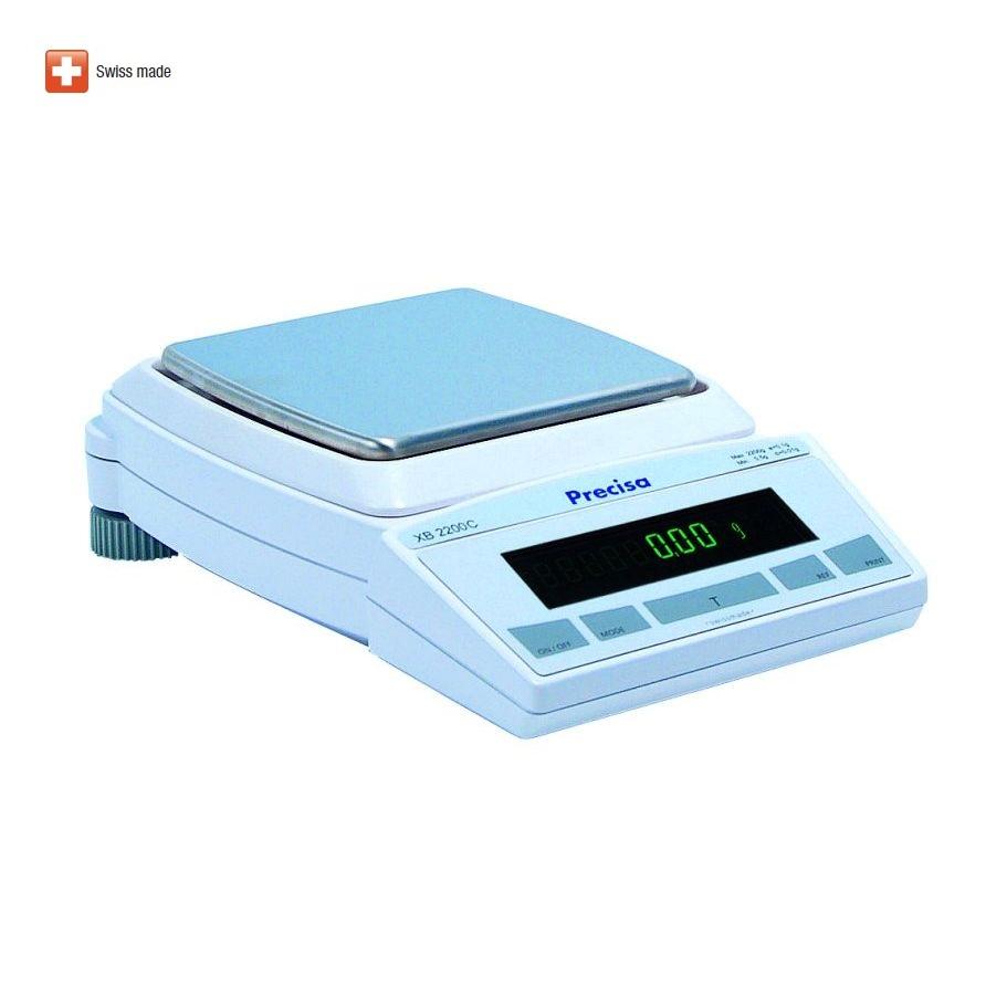 Přesná laboratorní váha PRECISA XB 2200C, 2200g/0,01g (Velmi kvalitní laboratorní váha PRECISA XB 2200C s interní kalibrací)