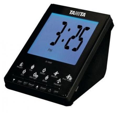Bezdrátový displej Tanita D-1000 (Bezdrátový displej D-1000 k tělesnému analyzátoru s přenosem dat Tanita BC-1000.)