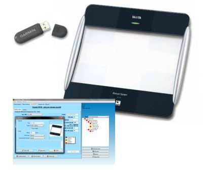 Tělesný analyzátor TANITA BC 1000, set pro sportovce (Tělesný analyzátor s přenosem dat Tanita BC-1000 + USB ANT + GMON Standard pro 8 uživatelů)