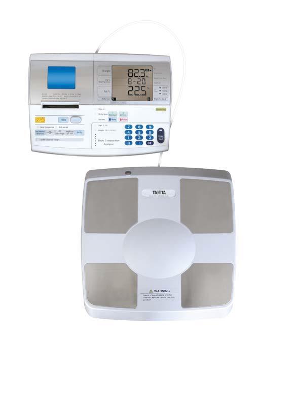 Tělesný analyzátor Tanita DC 430MA S s tiskárnou, cejchovaná (Osobní váha s tělesnou analýzou Tanita DC 430 MA S s tiskem výsledků analýzy, cejchovaná)