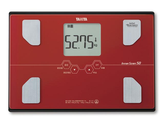 Osobní váha s tělesnou analýzou Tanita BC-313 cihlová (Osobní váha s tělesnou analýzou Tanita BC-313 cihlová pro domácí vážení)