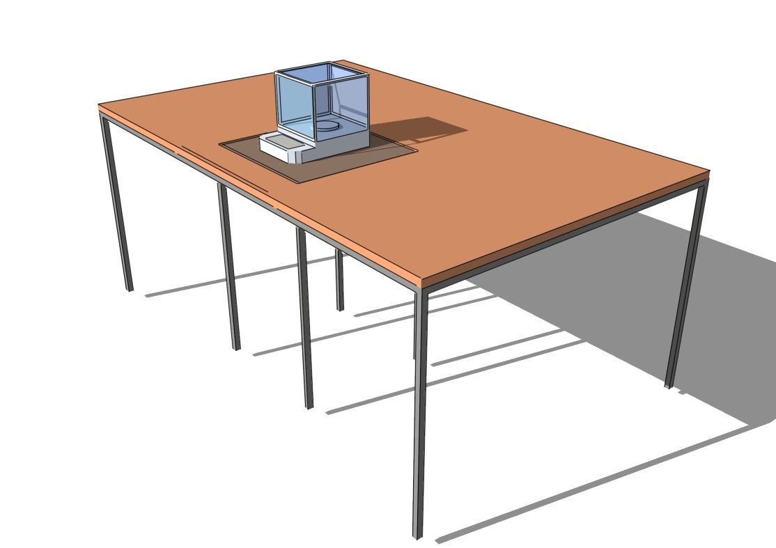 Vážící stůl pro přesné a analytické váhy (Váhový stůl pro přesné vážení, eliminujicí vibraceí pro váhy třídy II. a I.)