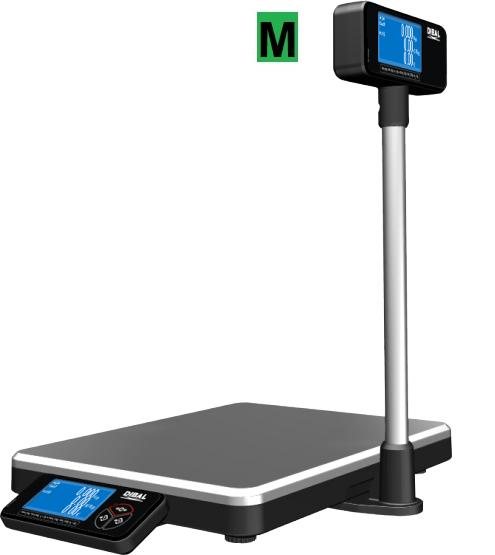 Obchodní váha DIBAL DPOS 400T2, 6/15 kg cejchovaná (Obchodní váha DIBAL DPOS 400T2 pro připojení k POS nebo reg. pokladně)