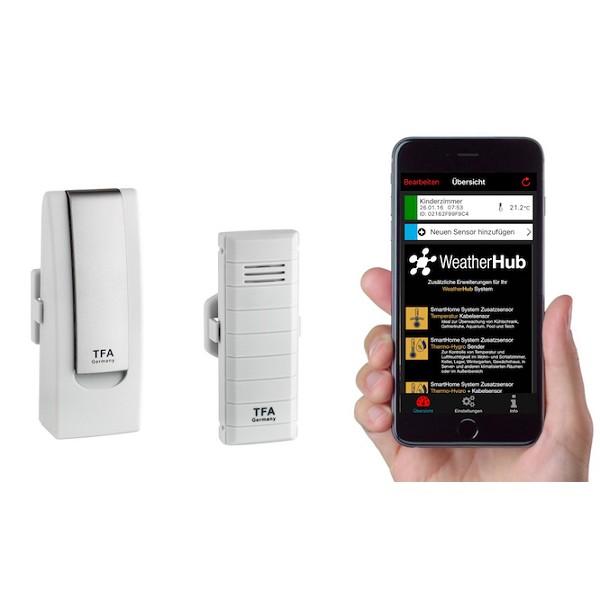 Monitor klimatu TFA 31.4001.02. - WEATHERHUB SmartHome