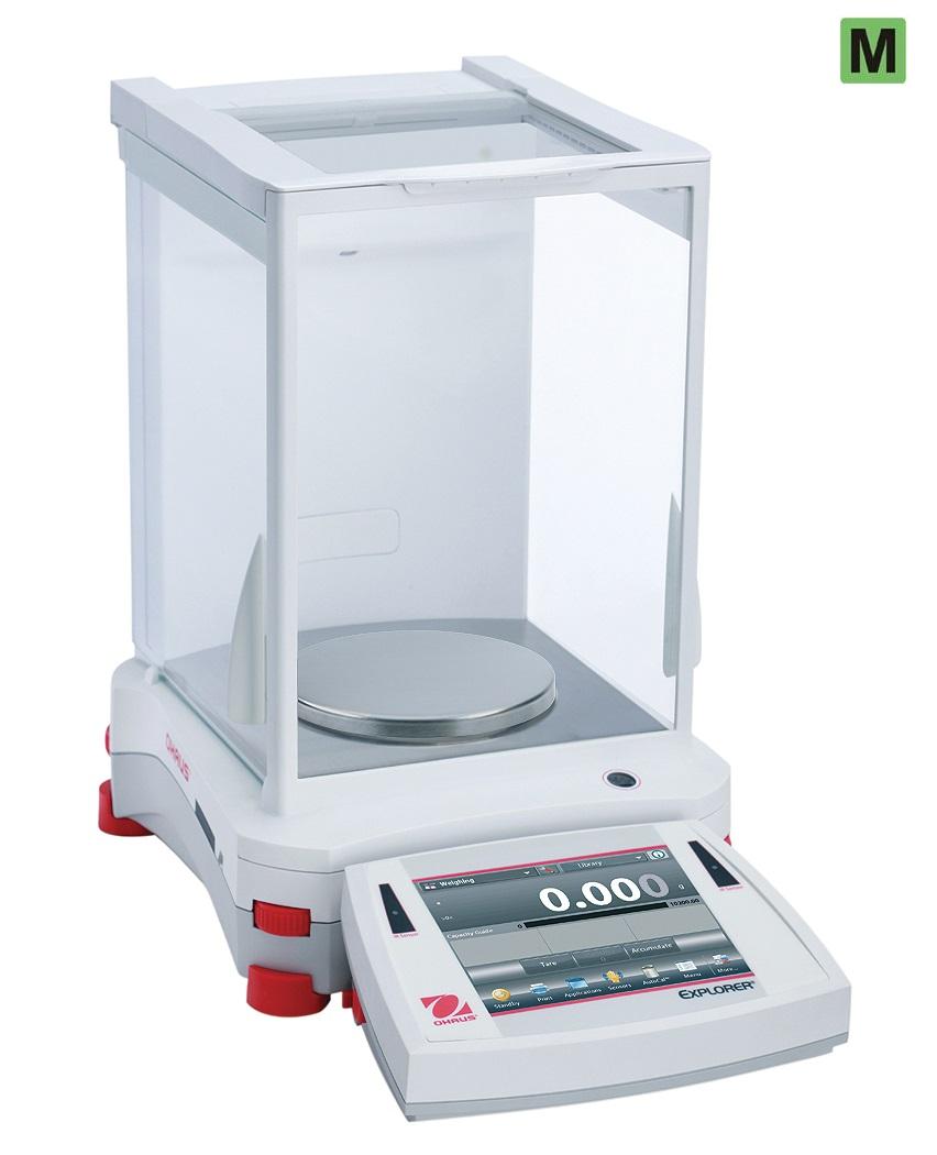 Přesná váha Ohaus Explorer EX1103M, 1100 g x 0,01 g (1 mg). ES ověření (Přesná váha Explorer Precision , model EX1103M s váživostí 1100 g, 0,01 g (1 mg). cejchovaná, s int. kalibrací)