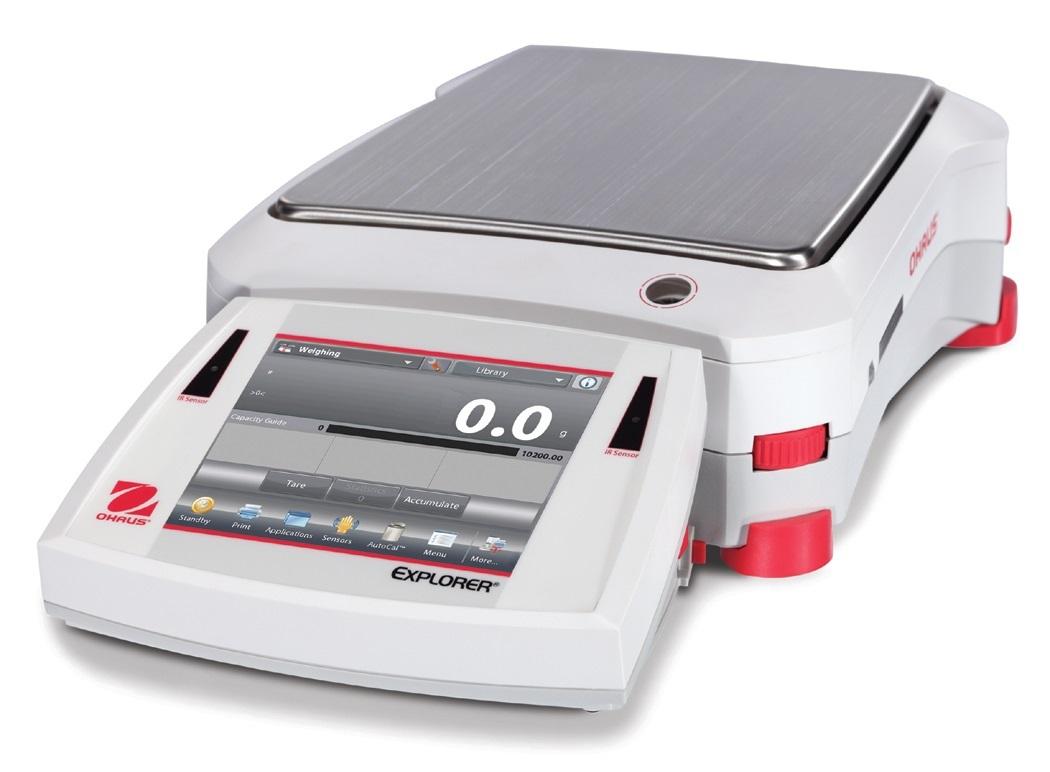 Přesná váha Ohaus Explorer EX6201, 6200 g x 0,1 g. (Přesná váha Explorer Precision , model EX6201 s váživostí 6200 g, 0,1 g. technologická)