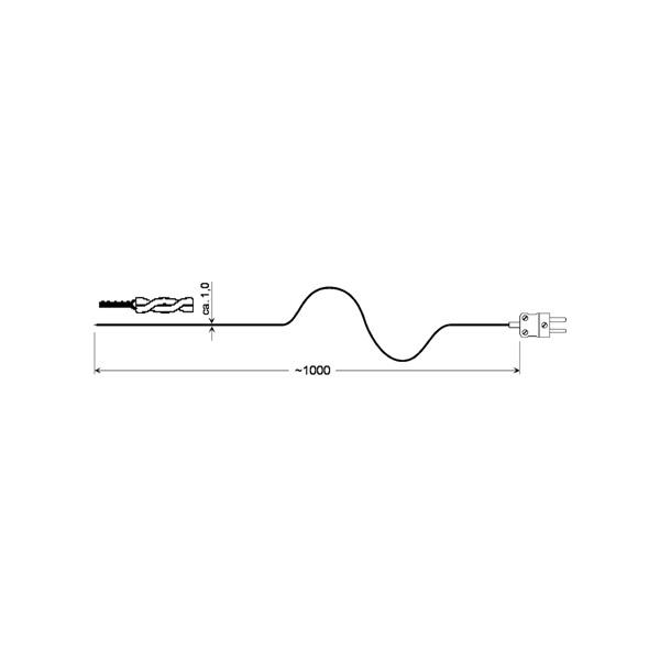 Drátový snímač teploty typu K - GTF 300 GS