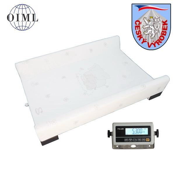 Kojenecká váha 4TKVPP15, 15kg/5g, 700x500mm (Přebalovací podložka pro kojence s instalovanou váhou do 15 kg)