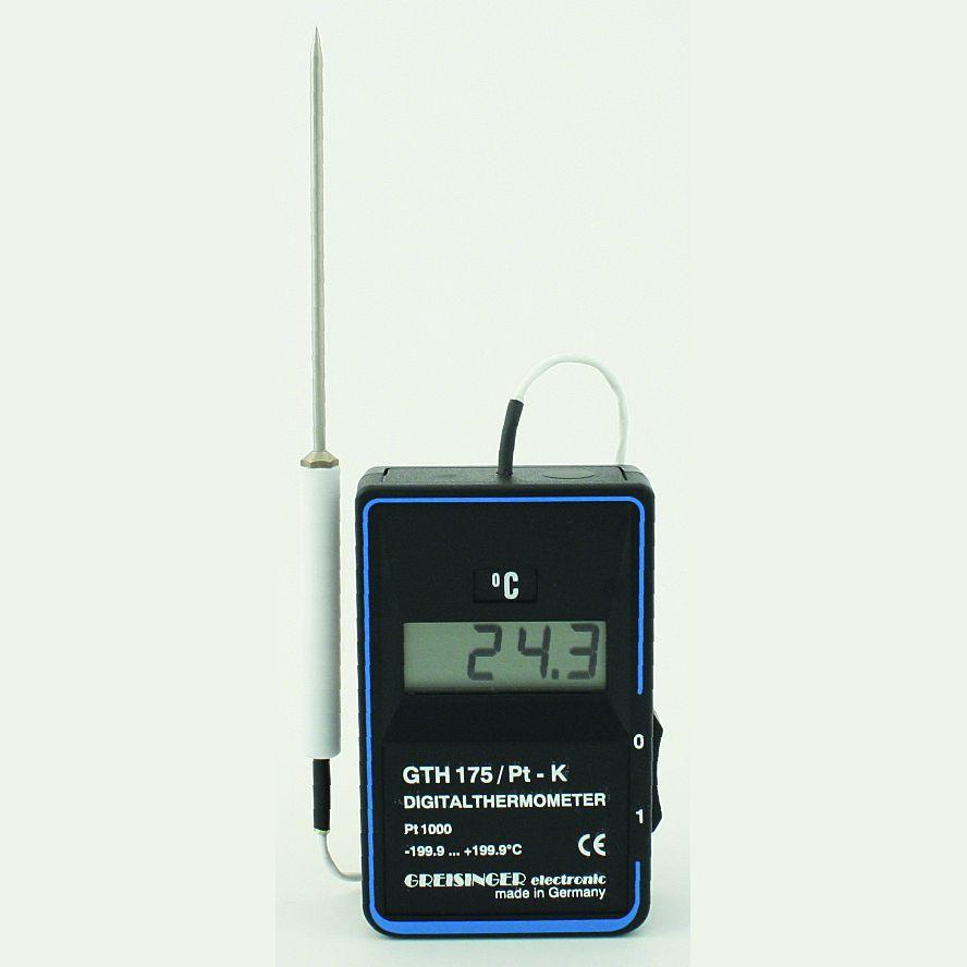 Kalibrovaný digitální teploměr Greisinger GTH 175 PT-K (Přesný digitální teploměr Greisinger GTH 175 PT-K s vpichovací sondou)