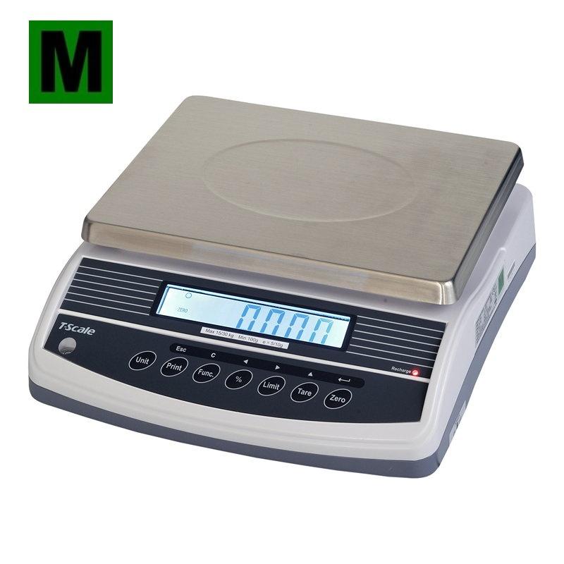 Stolní počítací váha Tscale QHW – 6/15 kg (Stolní váha Tscale QHW – 6/15 kg s režimem počítání kusů )