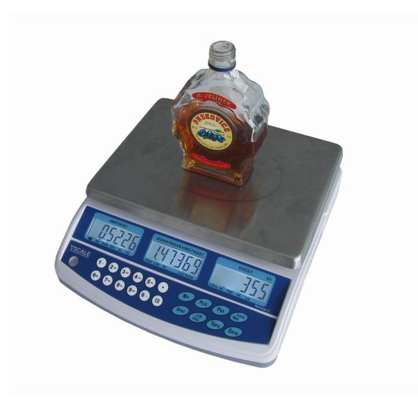 Váha na alkohol a mince Tscale QHD, 3 kg (Stolní váha Tscale QHD pro zjištění objemu tekutin)